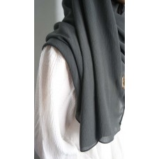 Instant Shawl 1.0 Ribbed Chiffon (Charcoal gray)