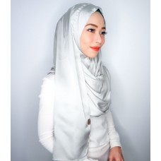 Instant Shawl 1.0 (Satin silk series: Silver)