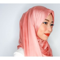 Instant Shawl 1.0 (Satin silk series: Carnation Pink)