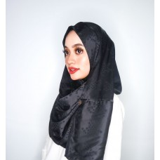 Instant Shawl Rania (Embossed Satin Silk Series: Black)