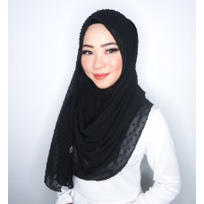 Instant Shawl 1.0 (Dots Textured series-Black)