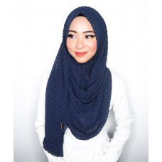 Instant Shawl 1.0 (Dots Textured Series - Midnight Blue)