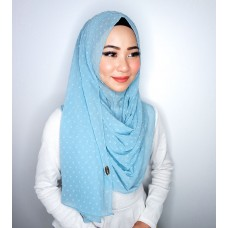 Instant Shawl 1.0 (Dots Textured series-Sky Blue)