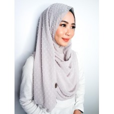 Instant Shawl 1.0 (Dots Textured Series - Heather Grey)