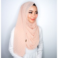 Instant Shawl 1.0 (Dots Textured series-Pinky Nude)