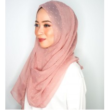 Instant Shawl 1.0 (Dots Textured Series - Rose Brown)