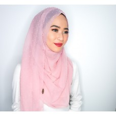 Instant Shawl 1.0 (Dots Textured Series: Barely Pink)