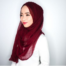 Instant Shawl 1.0 (Dots Textured Series - Apple Spice Red)