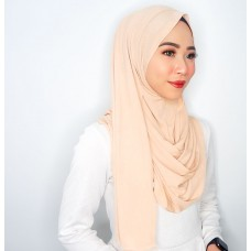 Instant shawl 1.0 (Iron free Pleated series: Butter Cookie)