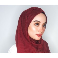 Instant shawl 1.0 (Iron free Pleated series: Midnight Red)