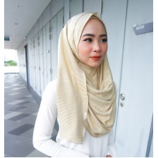Instant shawl 1.0 (Pleated series: Metallic Gold)