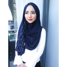 Instant shawl 1.0 (Whimsical leaves series: Navy Blue)