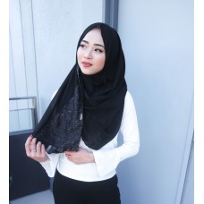 Instant Shawl 1.0 Chiffon (Glitzy Sequin series: Black)