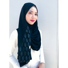 Instant shawl 1.0 (Whimsical leaves series: Black)
