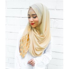 Instant shawl 1.0 (Whimsical leaves series: Gold)