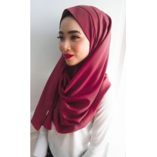 Instant Shawl 1.0 Georgette (Maroon)