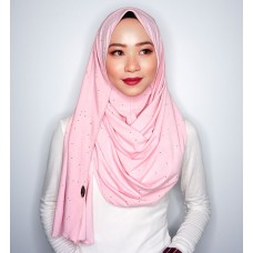 Instant shawl 1.0 (Iron free series - Glitter Pink Cloud)