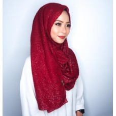 Instant shawl 1.0 (Glitz Textured Series: Mulberry)
