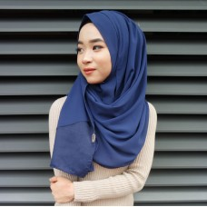 Instant shawl 1.0 (Organza series: Navy Blue)