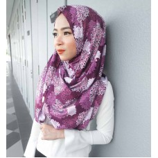 Instant shawl 1.0 (Printed series: Nadine in Sweet Plum)