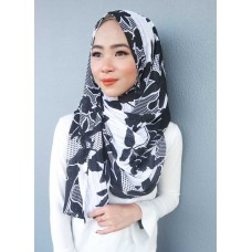 Instant shawl 1.0 (Printed series: Atiyya in Black)