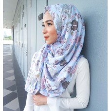 Instant shawl 1.0 (Printed series: Raisa in Sky Blue)