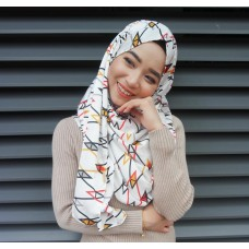 Instant shawl 1.0 (Printed series: Abstract Yellow)