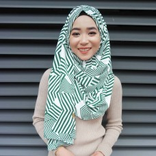 Instant shawl 1.0 (Printed series: Geometric Green)