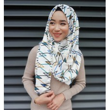 Instant shawl 1.0 (Printed series: Abstract Blue)