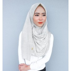 Instant shawl 1.0 (Pleated series: Metallic Silver)