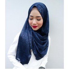 Instant shawl 1.0 (Iron free series - Metallic Navy Blue)