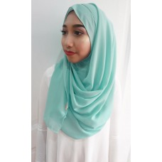 Instant shawl 1.0 Chiffon (Mint Smoothie)