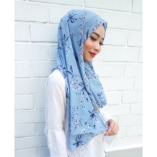 Instant shawl 1.0 (Printed series: Harper - Light Blue)