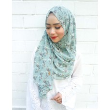 Instant shawl 1.0 (Printed series: Emily - Sage Green)
