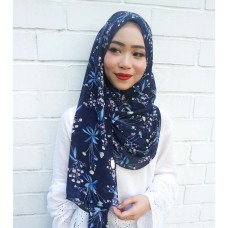 Instant shawl 1.0 (Printed series: Harper - Navy Blue)