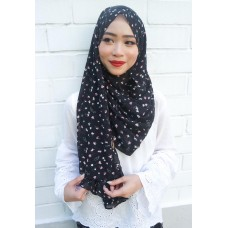 Instant shawl 1.0 (Printed series: Giselle - Black)