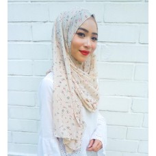 Instant shawl 1.0 (Printed series: Giselle - Light Brown)