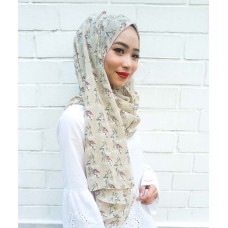 Instant shawl 1.0 (Printed series: Emily - Light Brown)