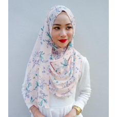 Instant shawl 1.0 (Printed series: Harper - Pink)
