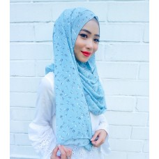 Instant shawl 1.0 (Printed series: Giselle in Light Blue)