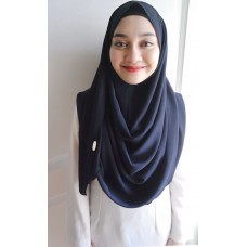 Instant Shawl 1.0 bubble crepe (Midnight Blue)