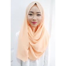 Instant Shawl 1.0 Georgette (Just Peachy)