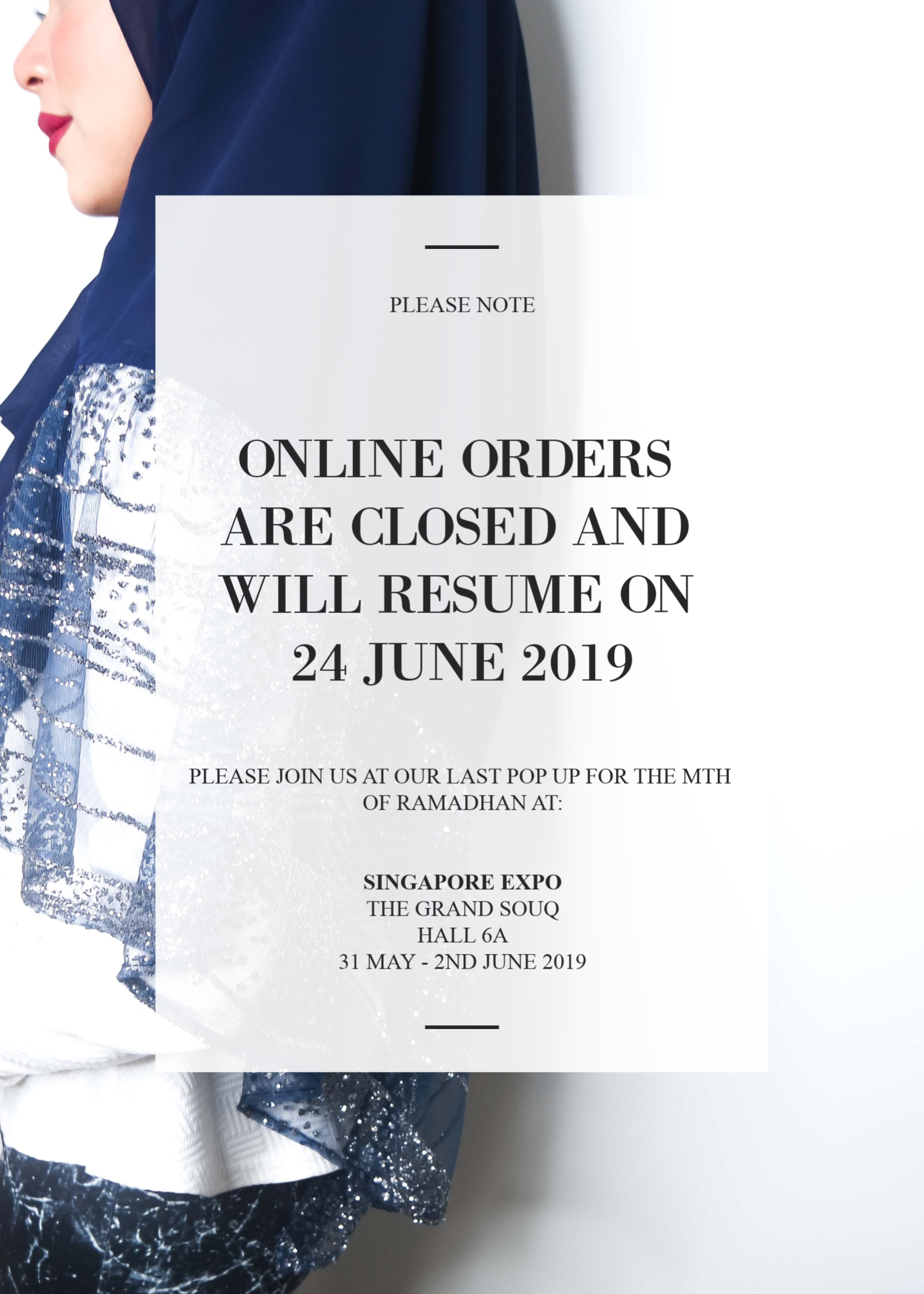 ONLINE ORDER CLOSED