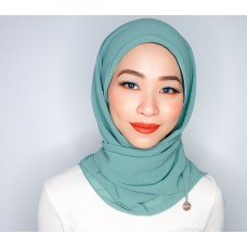 CALI Semi Instant Shawl with Inner (Chiffon - Mermaid's Tale)
