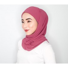 CALI Semi Instant Shawl with Inner (Chiffon - Melrose Pink)