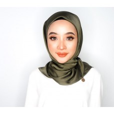 CALI Semi Instant Shawl with Inner (Satin - Burnt Olive)
