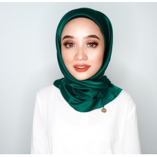 CALI Semi Instant Shawl with Inner (Satin Silk - Emerald Green)