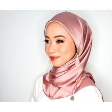 CALI Semi Instant Shawl with Inner (Satin Silk - Mauve rose)