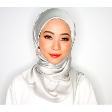 CALI Semi Instant Shawl with Inner (Satin Silk - Silver)