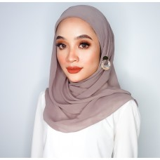 CALI Semi Instant Shawl with Inner (Chiffon - Taupe)